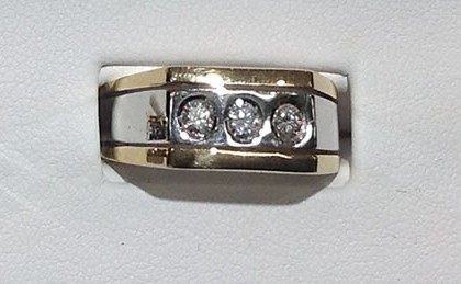 beautiful ritz lighting style. beautiful 14 kt manu0027s two tone yellow gold and white ring with 3 round brilliant cut diamonds in the center square style setting approximate weight ritz lighting
