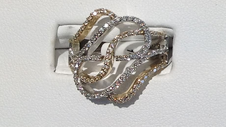 Beautiful 14 kt white gold ring with yellow diamonds and for Best jewelry stores in fresno ca